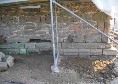 Mauerwerksanierung Kirche Dielmissen