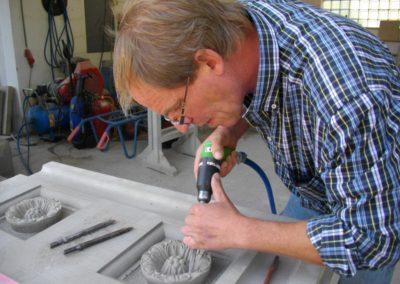 Steinbildhauerarbeiten für das Königliche Palais zu Amsterdam