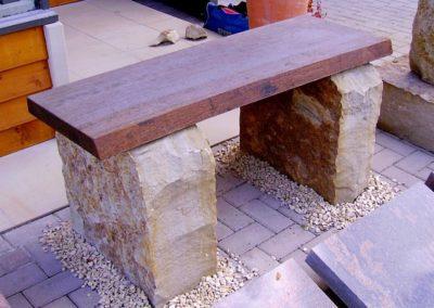 Natursteinarbeiten Sitzbank