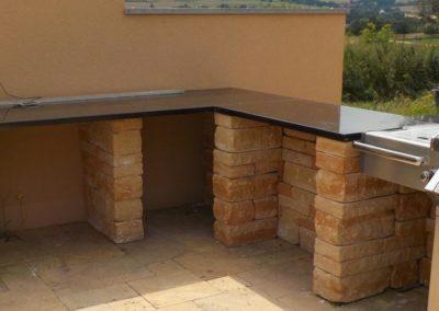 Außenküchenarbeitsplatte aus Granit