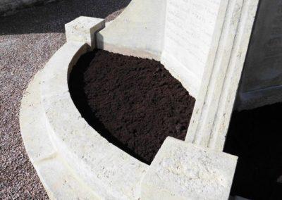 Restaurierungsarbeiten Friedhof Rumbeck