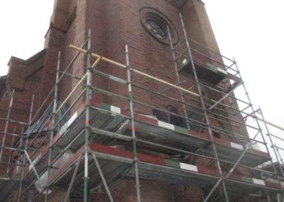Restaurierungsarbeiten Kirche Steinbergen