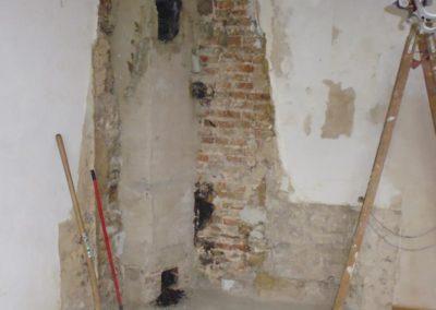 Während der Arbeit - Restaurierungsarbeiten Schloss von Hammerstein / Goslar