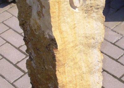 Sonnenblume Obernkirchener Sandstein